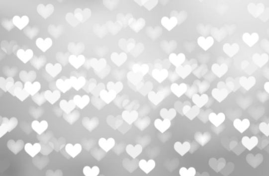 This is the silver hearts design on the outside of our wedding photo booth.